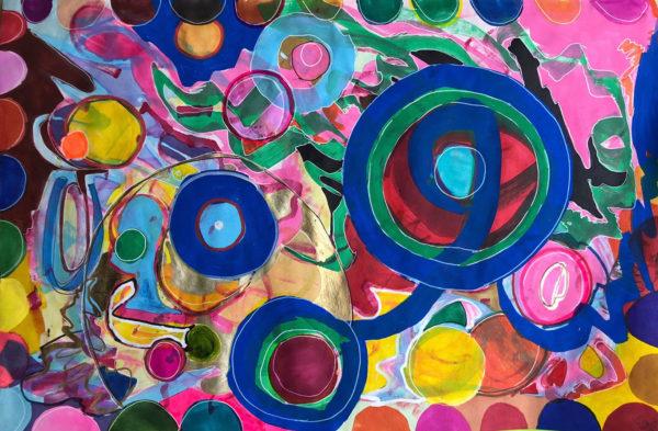 Circles, Marker Drawing, Wang Zi Yu