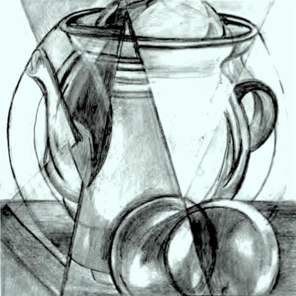 L'Orangerie: Circle the Square, pencil drawing, Nate D.