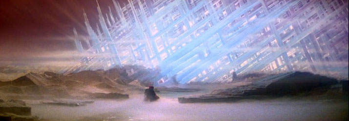 Ray Caple, matte painting from Superman
