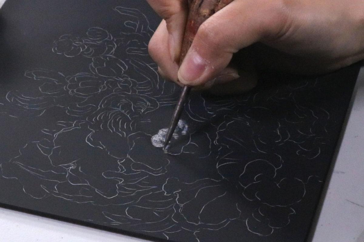 Scratchboard Drawing, Song Kang