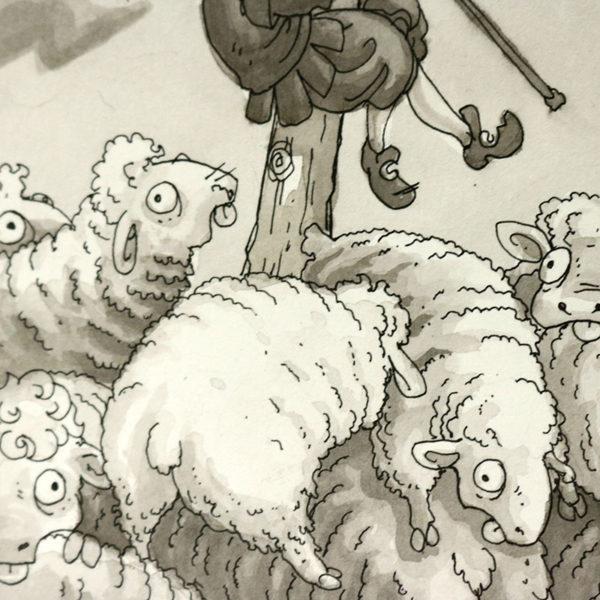 Pen & Ink Wash Illustration