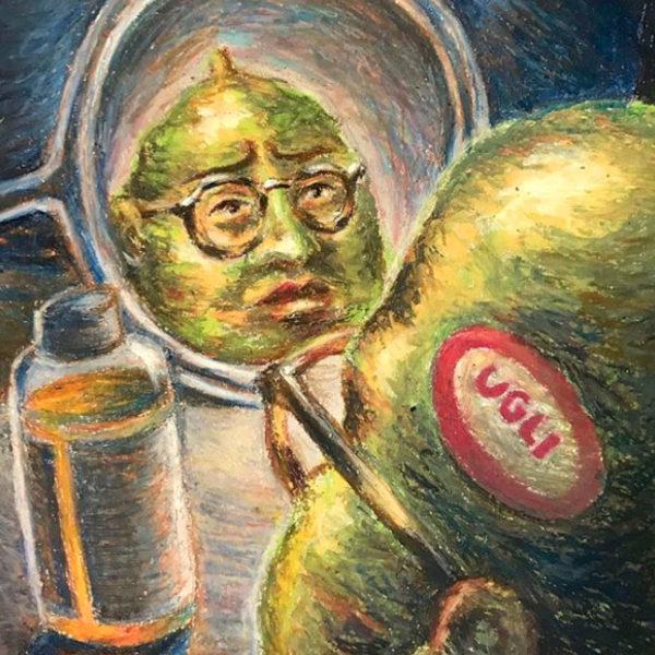 Oil Pastel Drawing, Julie Sharpe