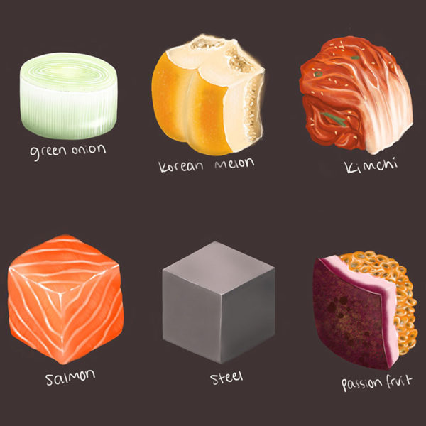 Digital Painting: Texture Cubes, Ruth Lee