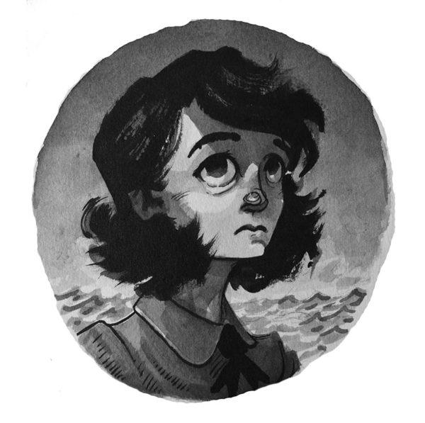 Chapter Header Illustration, pen & ink wash, Alex Rowe