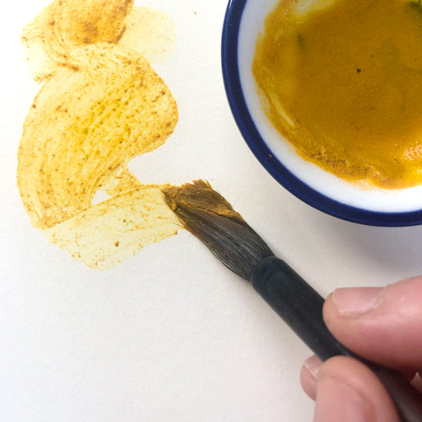 Painting with Turmeric