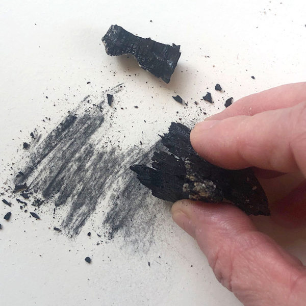 Homemade art supplies: charcoal