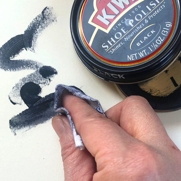 Homemade Art Suppliess: Drawing with Shoe Polish