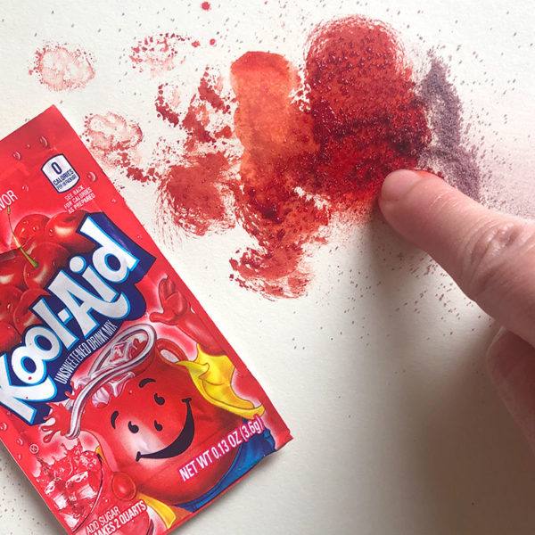 Finger Painting with Kool-Aid