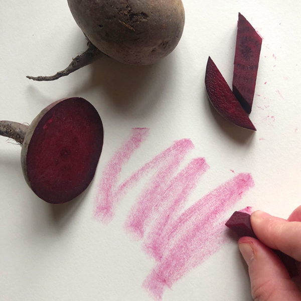 Home Art Supplies: Drawing with Beet Sticks