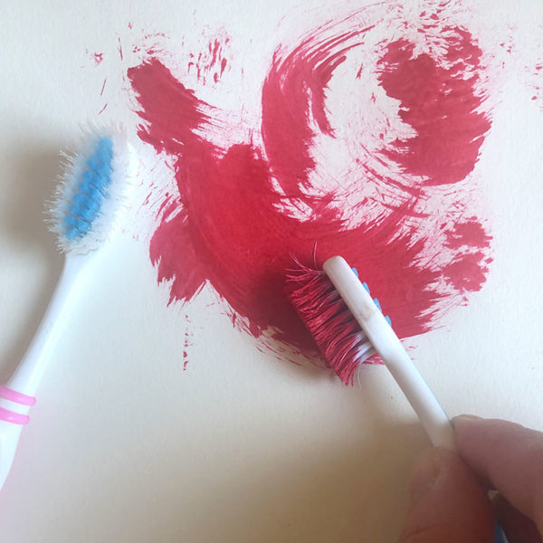 Home Art Supplies: Painting with a Toothbrush