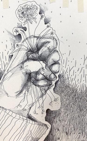 Kenzie Swangstu, Ballpoint Pen Drawing