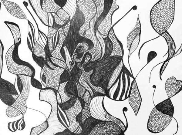 Nancy Rivera, Ballpoint Pen Drawing