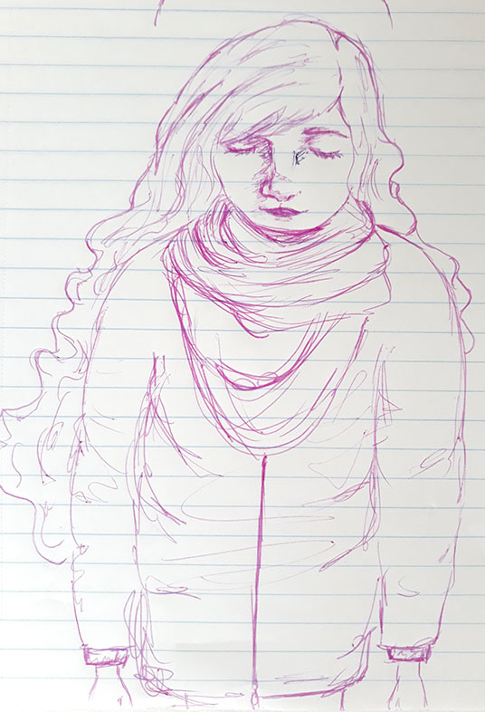 Rebecca Cortese, Ballpoint Pen Drawing
