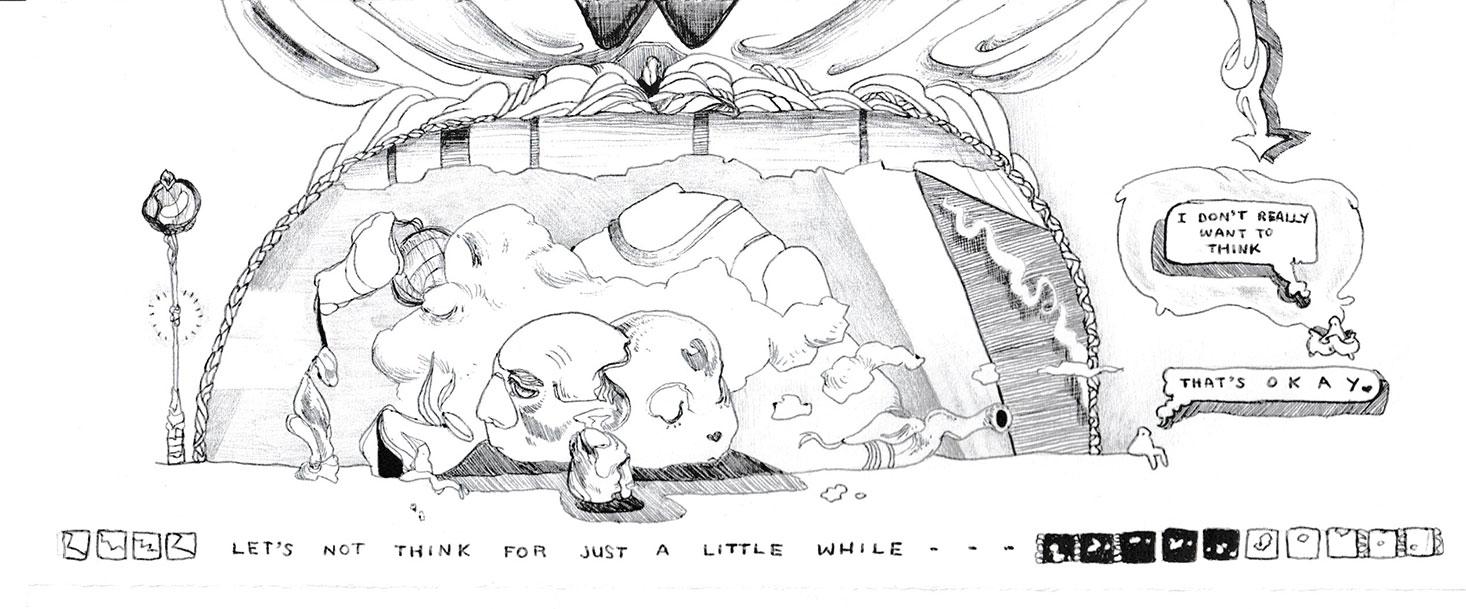 Sam Sewell, Ballpoint Pen Drawing