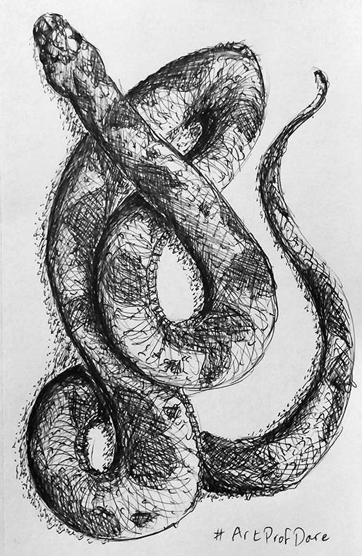 Sean Southerland-Kirby, Ballpoint Pen Drawing