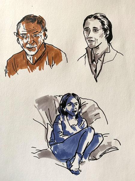 Gesture Drawings, Luna Yuan