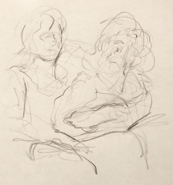 Colored Pencil Gesture Drawing, Clara Lieu