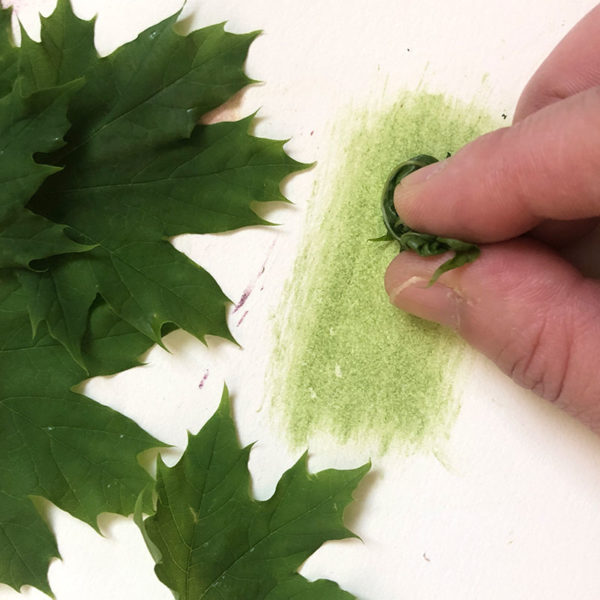 Home Art Supplies: Painting with Leaves