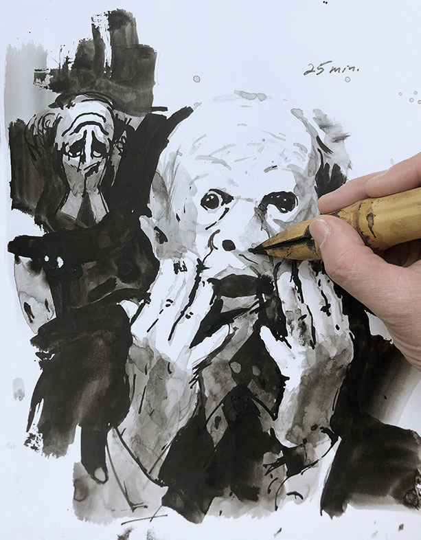 Ink Wash Drawing, Clara Lieu