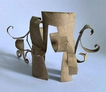 Toilet Paper Sculpture, Neil Espinosa