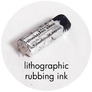 Art Prof, Art Supply Encyclopedia: Lithographic Rubbing Ink