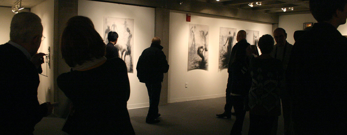 Art Gallery Exhibition with Drawings