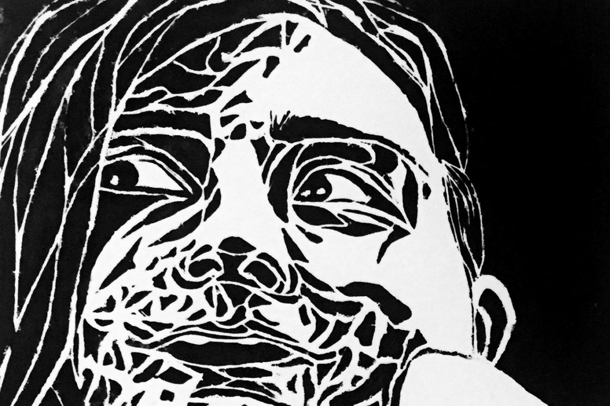Linoleum Block Print by Maya Sternberg