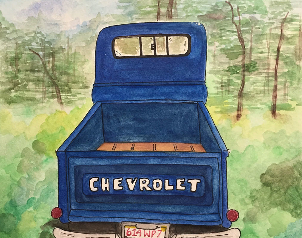 Watercolor Painting by a Student at Millis High School