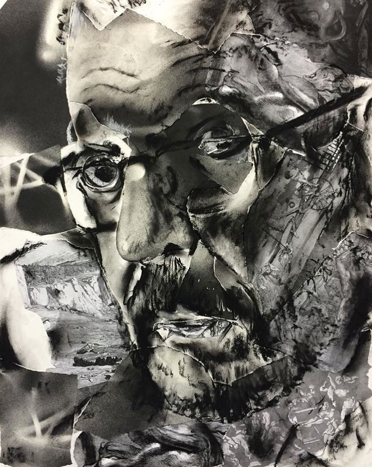 Charcoal Portrait Drawing by Michael Buesking