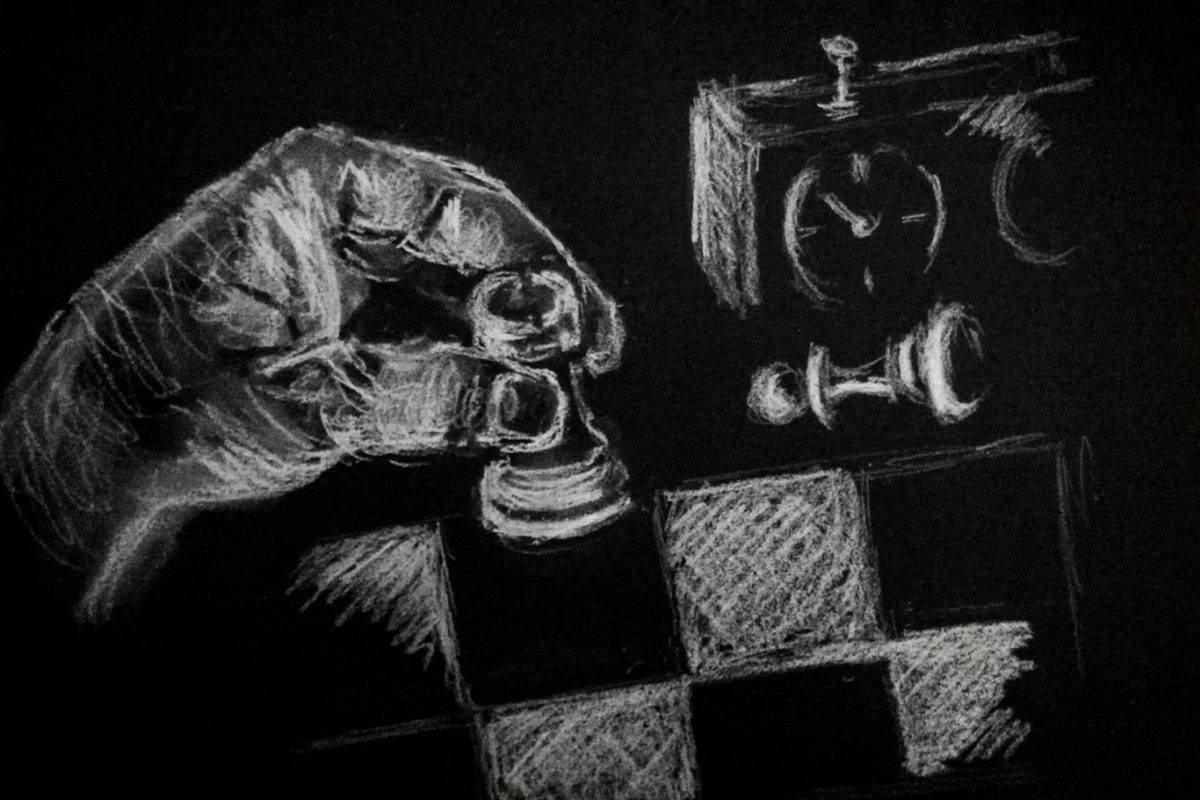 Charcoal Drawing by Anonymous