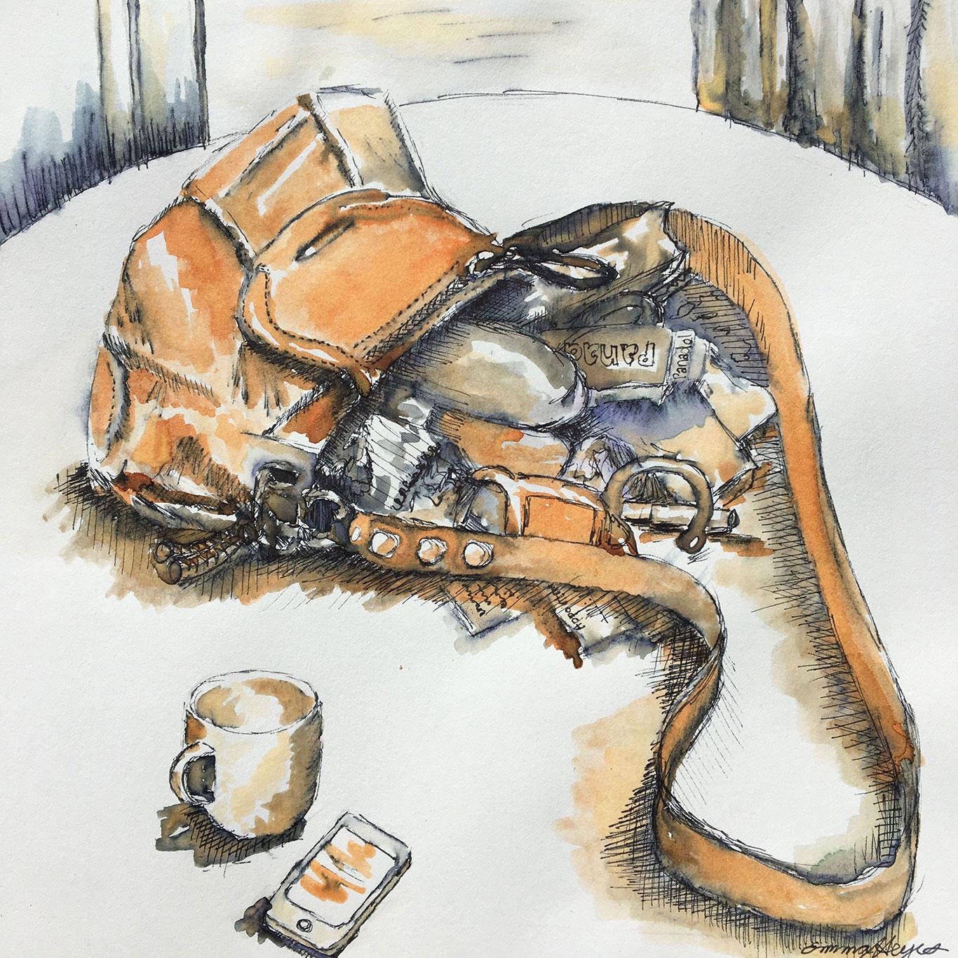 Pen & Ink Drawing by Emma Heyes