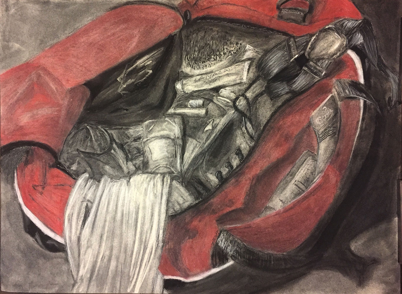 Charcoal & Pastel Drawing by Maya Sternberg