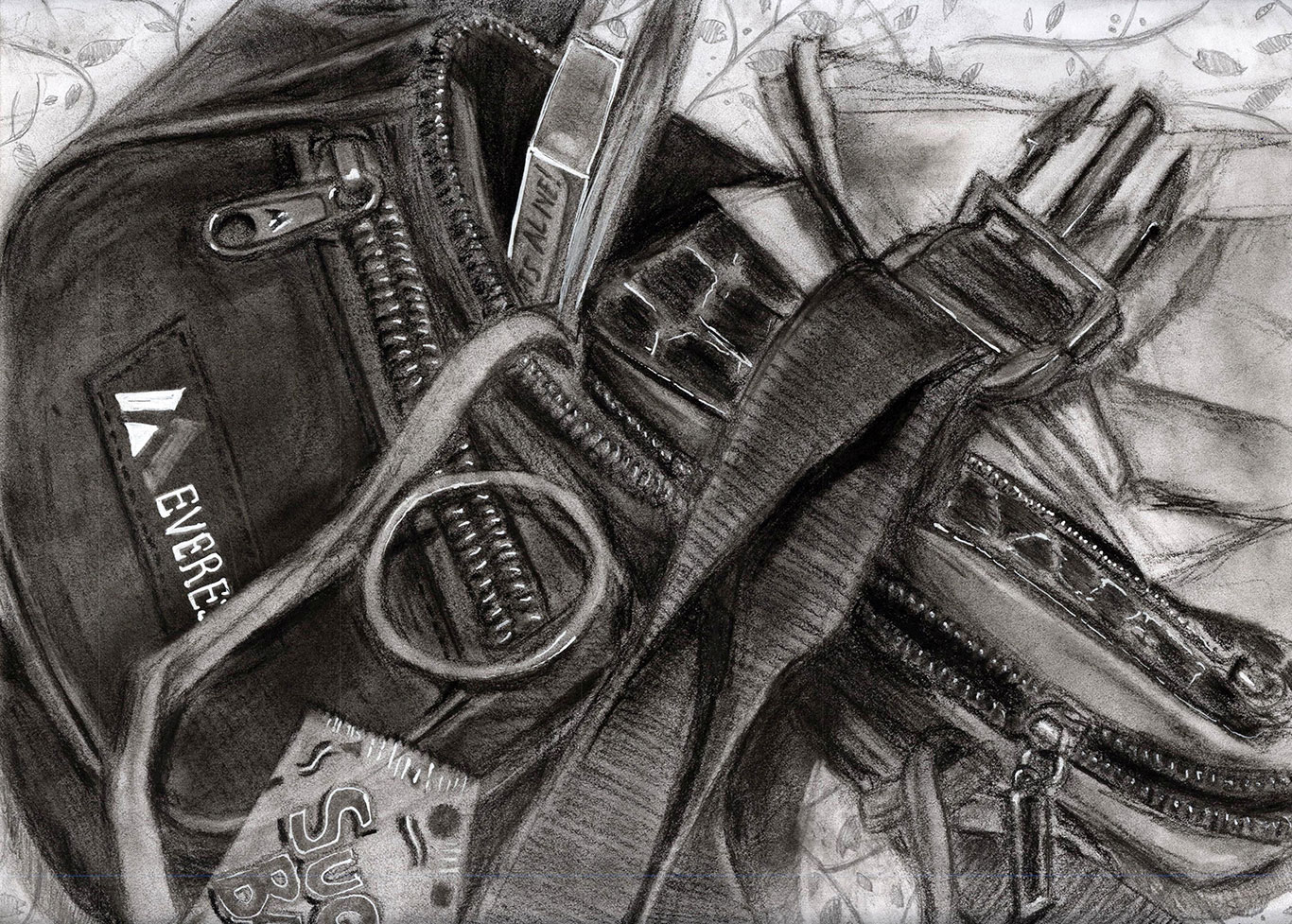 Charcoal Drawing by Wendy Duong