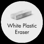 Art Supplies: White Plastic Eraser
