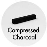Art Supplies: Compressed Charcoal