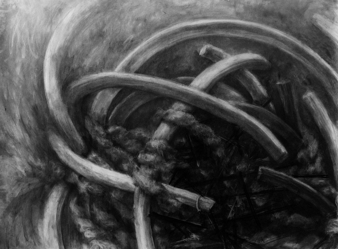 Charcoal Drawing by Juwon Joon