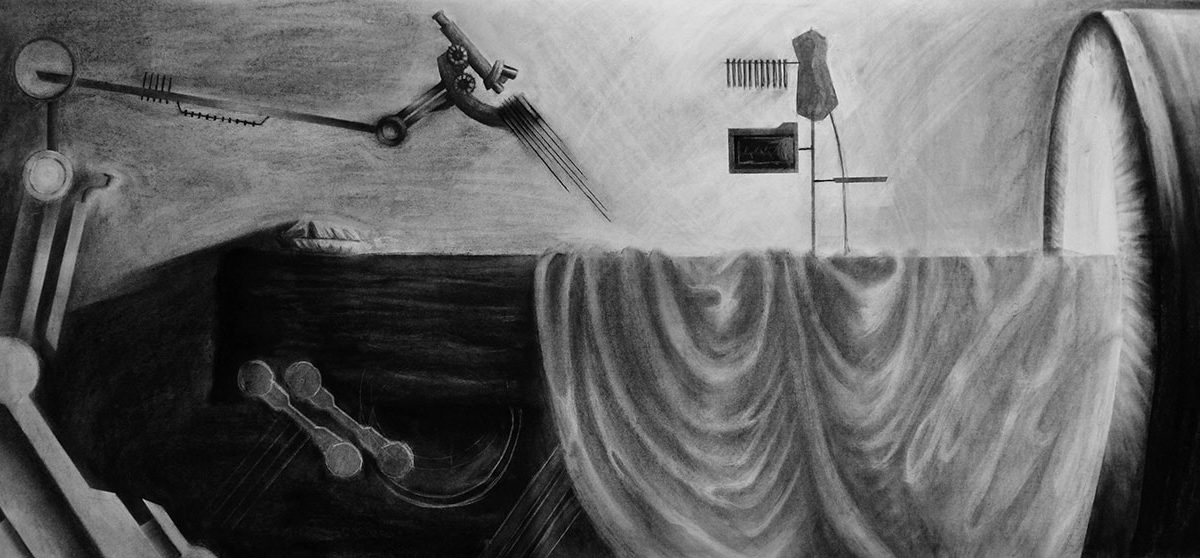 Charcoal Drawing by Skye Ray
