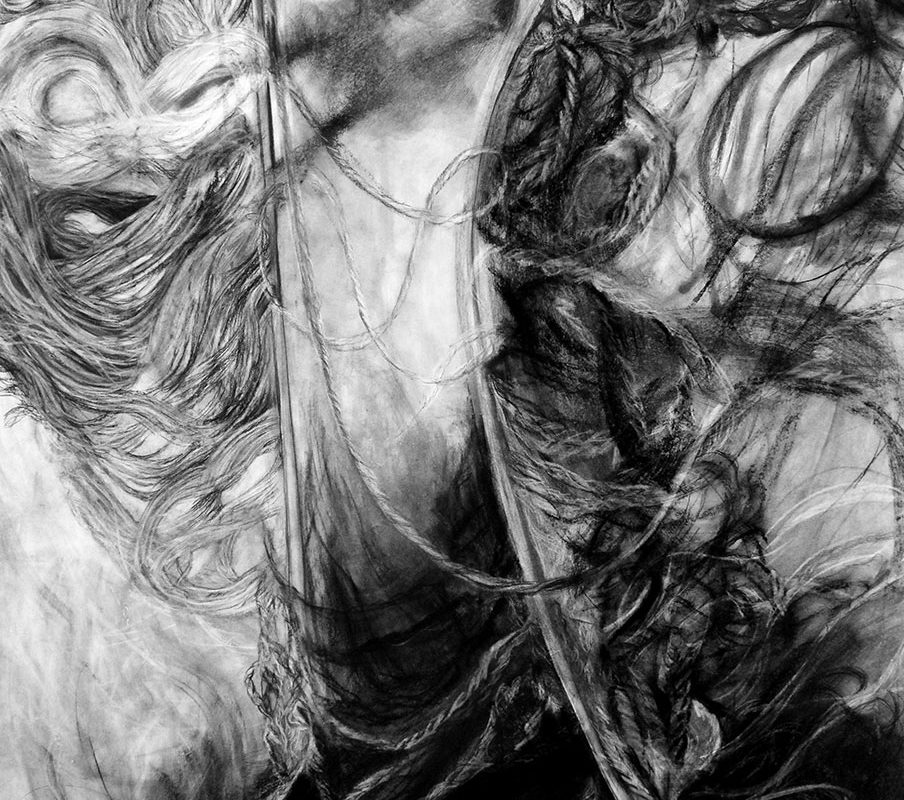 Charcoal Drawing by Alexandra Alemany
