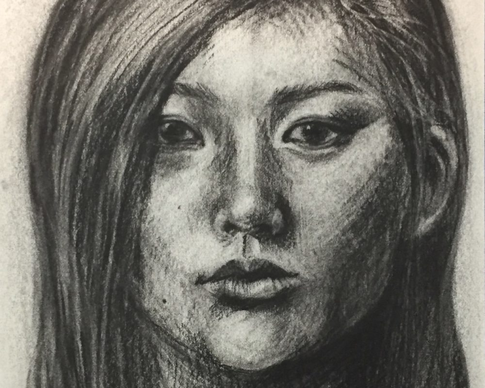 Charcoal Drawing by Emily Patterson
