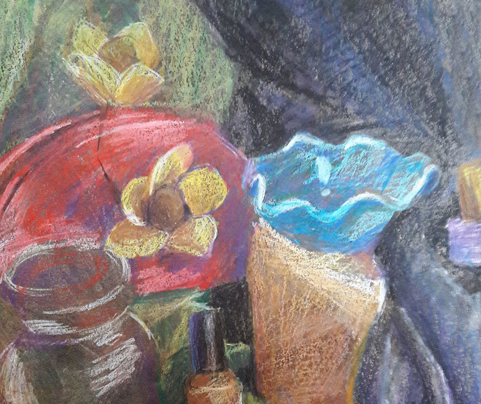 Final Still Life Drawing, in progress