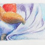 Crayon Still Life Drawing, Thumbnail Sketches