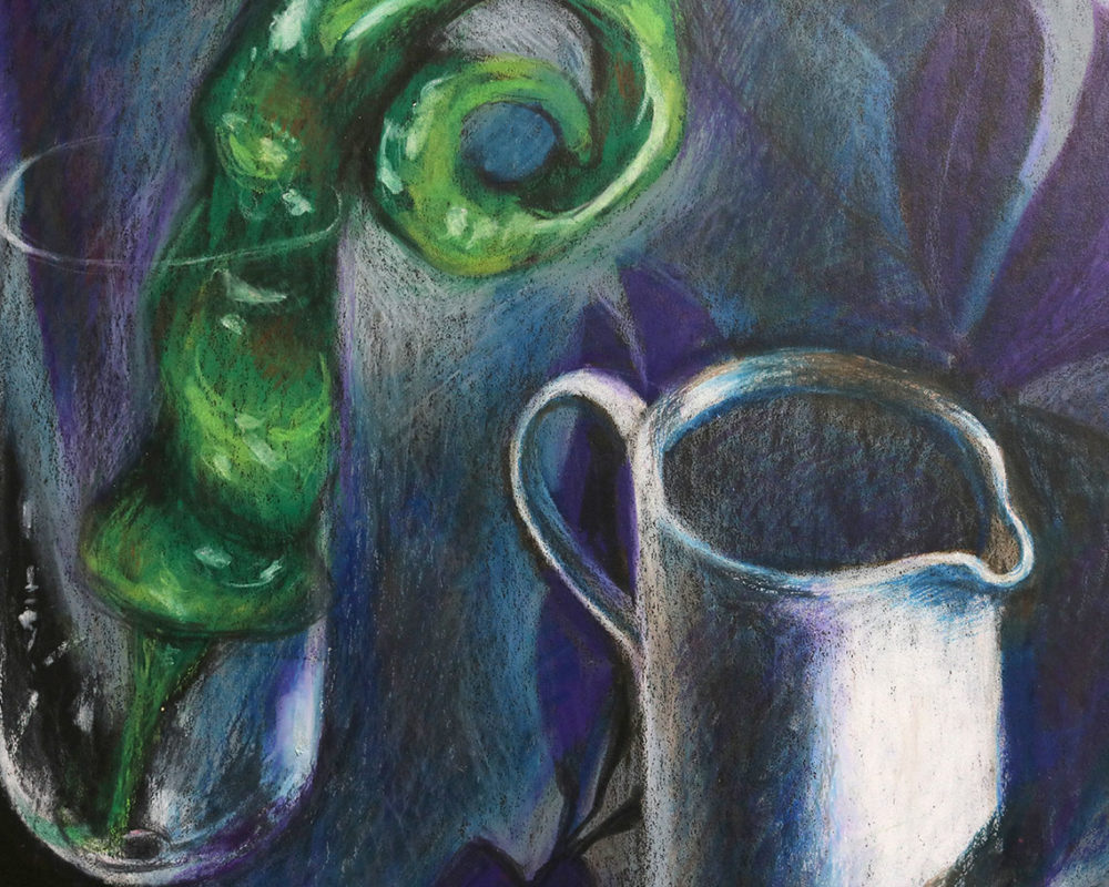 Crayon Still Life Drawing (detail)