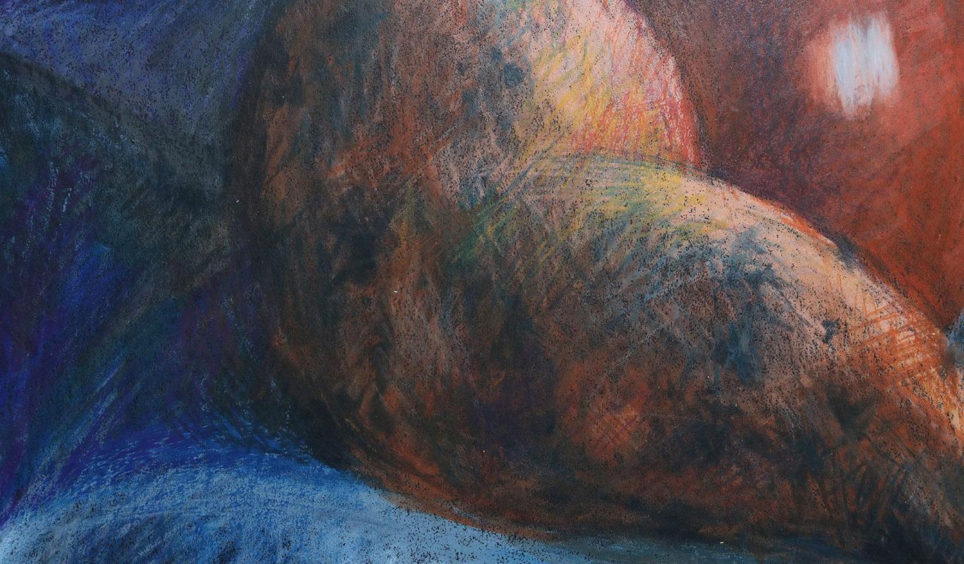 Crayon Still Life Drawing (detail)