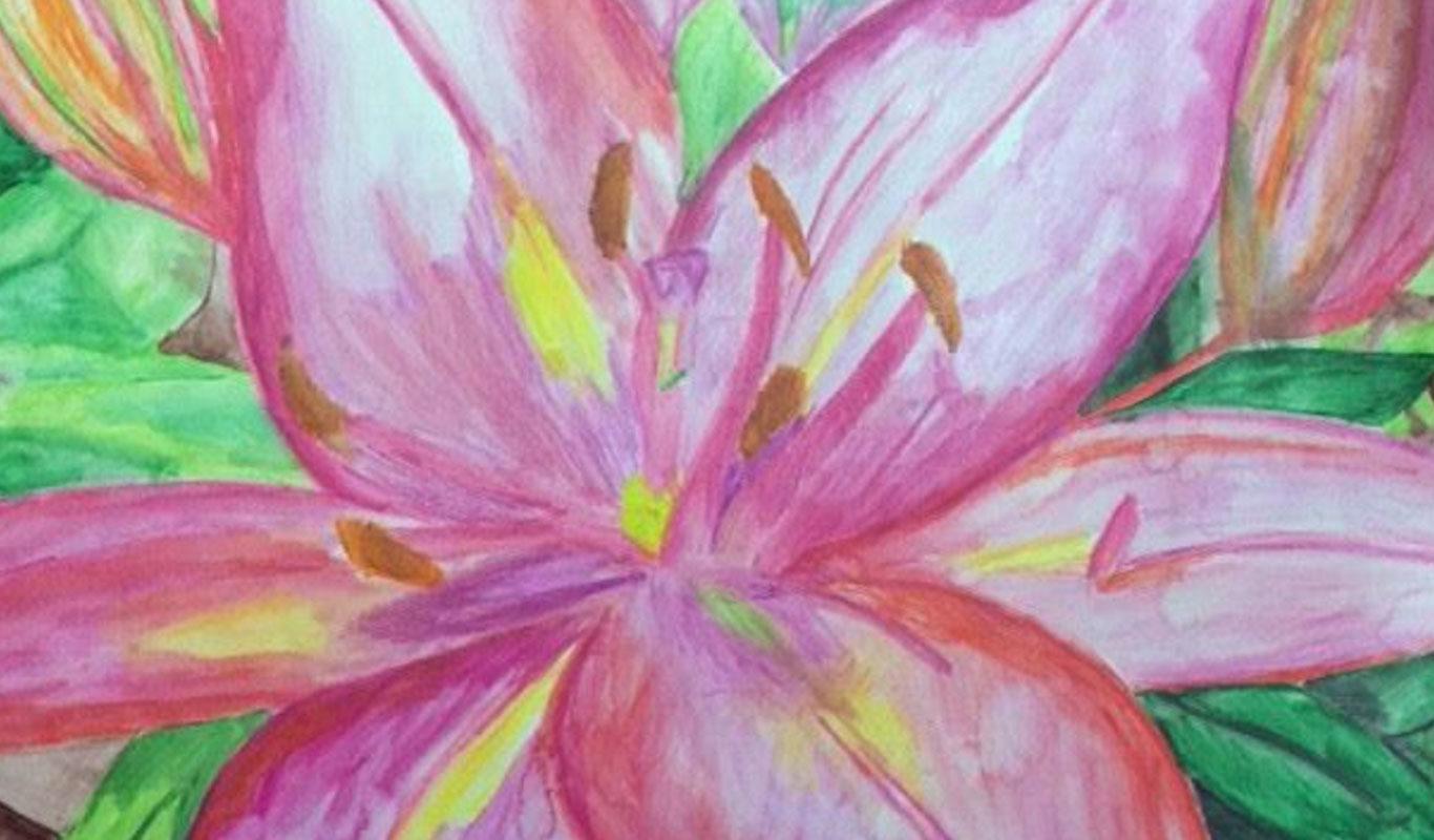 Watercolor Painting by El Haynes High School Art Student