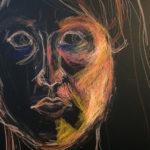 Caran d'Ache Crayon Self-Portrait, Stephanie Gibadlo
