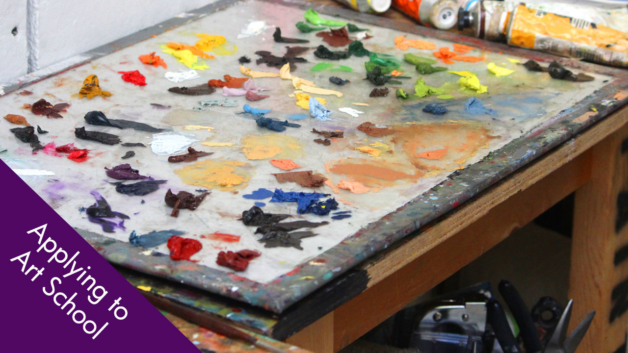 Artist Studio: Oil Painting Glass Palette