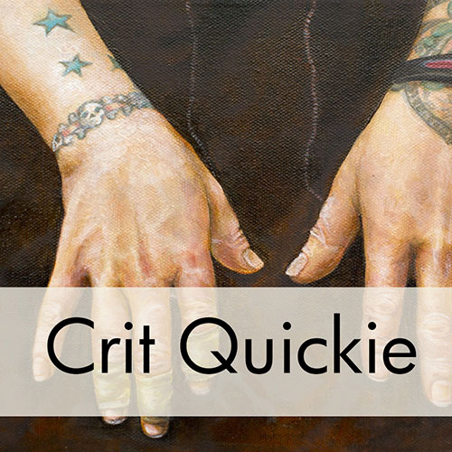 Art Critique: Oil Painting of Hands with Tattoos