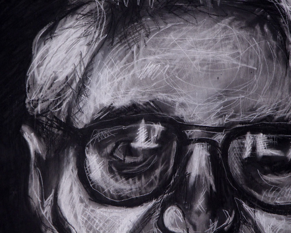 Charcoal Portrtrait Drawing by Monika Hedman