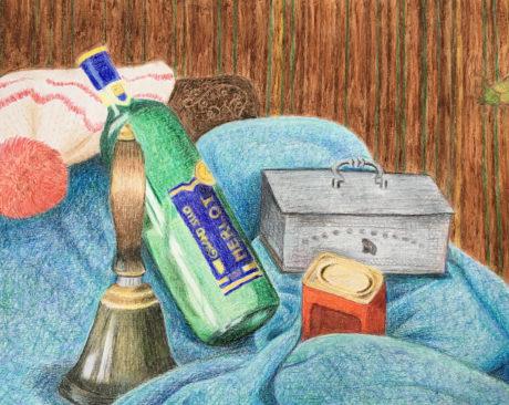 Crayon Still Life Drawing by Hanna Bordewijk