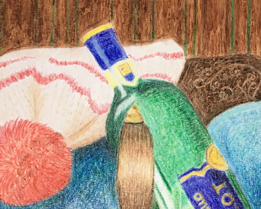 Crayon Still Life Drawing by Hanna Bordewijk